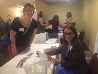 Signing copies of A Lethal Inheritance, at PPAL meeting.